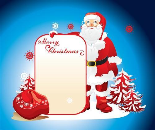 庆祝圣诞节插画