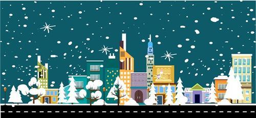 冬季城市雪景