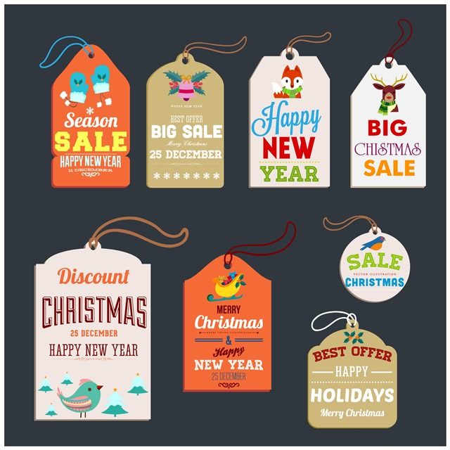 圣诞吊牌标签