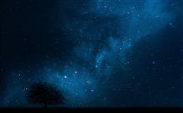 最美夜晚星空背景