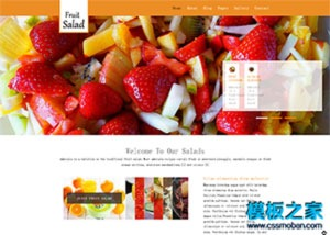 橙色下午茶餐饮网店模板