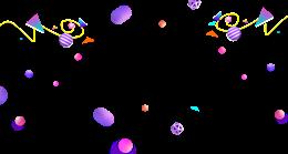 彩色圆球悬浮电商