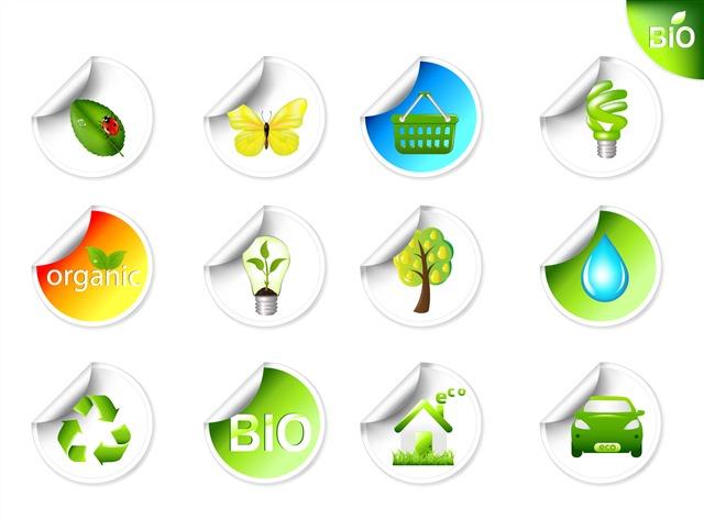 环保标志贴纸