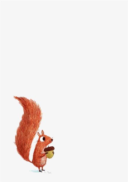 卡通小松鼠插画
