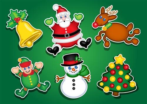 圣诞挂牌贴纸