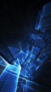 深邃炫酷三维科技背景图
