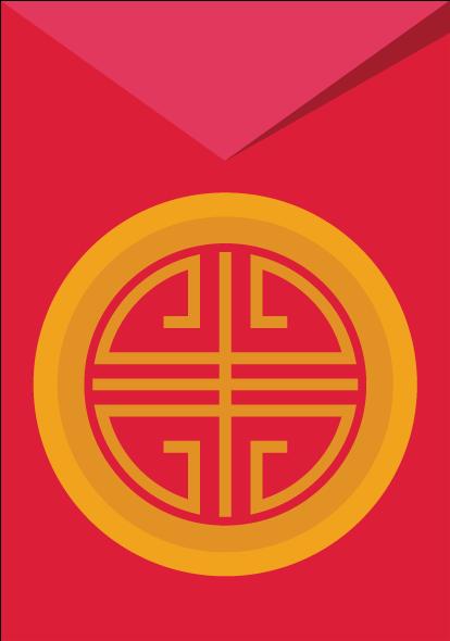 春节红包矢量背景