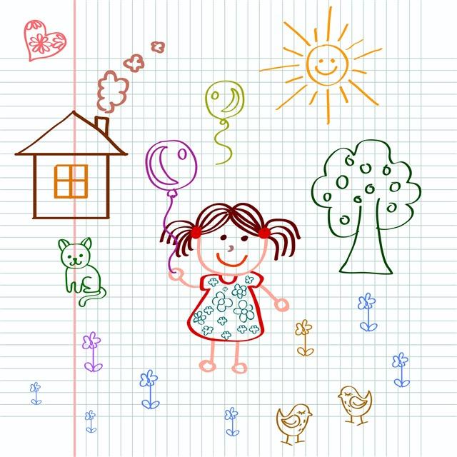 可爱的儿童绘画