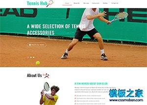 网球训练俱乐部企业模板