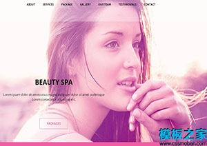 医疗美容网站首页模板