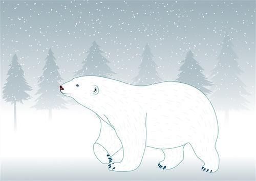 北极熊卡通图片