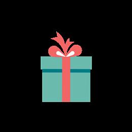 卡通礼物盒圣诞平安夜装饰图案