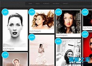 摄影博客图片展示网站模板