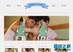 儿童乐园小学网站模板
