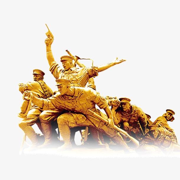 解放军雕像高清免抠