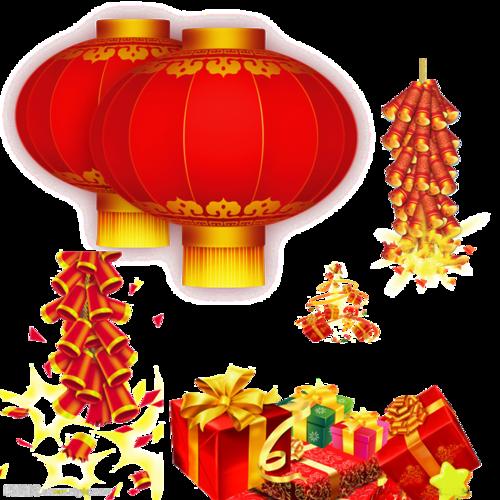 春节鞭炮灯笼图片