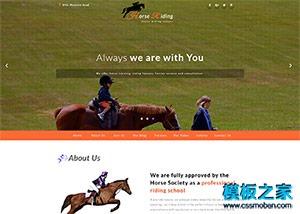 赛马场比赛响应式网页模板