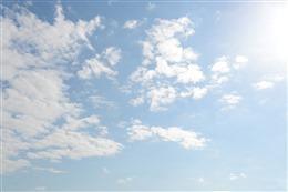 治愈系天空与云的背景