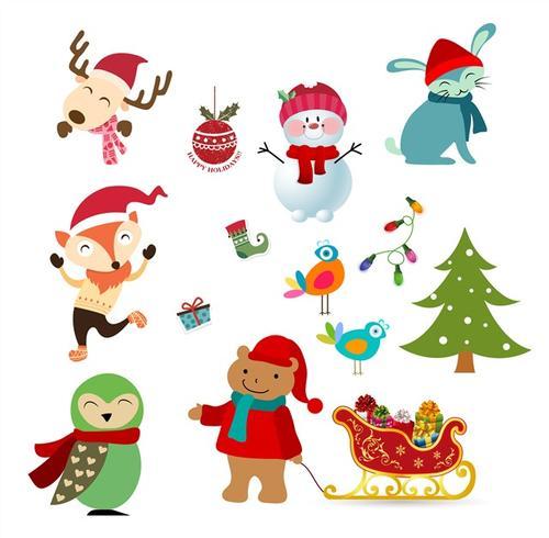 圣诞节卡通贴纸图案