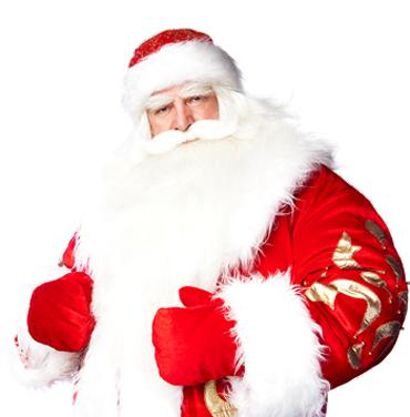 圣诞老人真实摄影