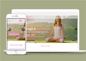 响应式瑜伽馆网站模板