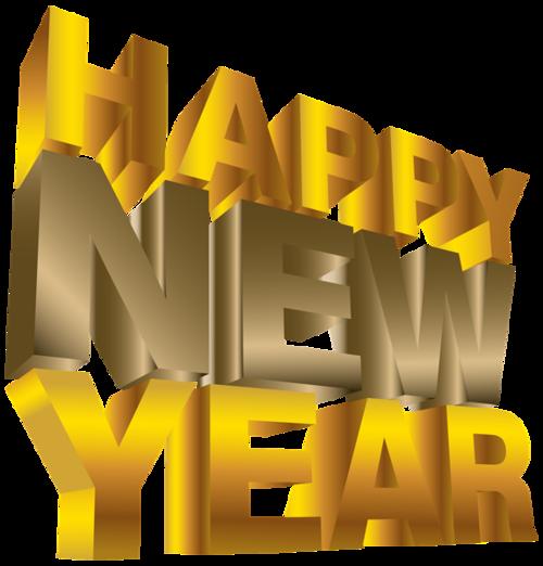 新年快乐展板海报立体字