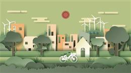 绿色城市插画