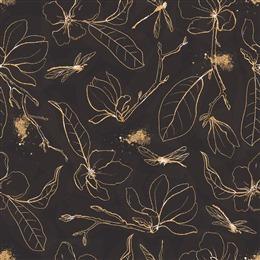 金色花卉图案背景