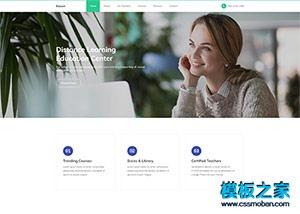英语培训班html网站模板