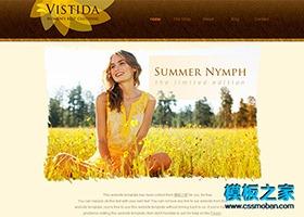 金色麦田摄影类网站模板