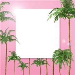 粉色椰树壁纸