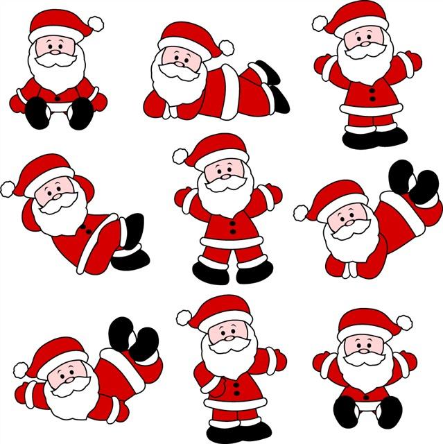 圣诞老人矢量图案