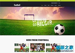 足球运动比赛网站html5模板