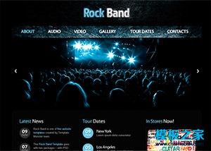 音乐俱乐部手机网站模板