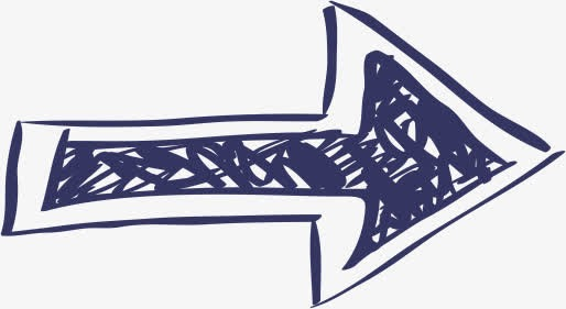 蓝色涂鸦箭头图标