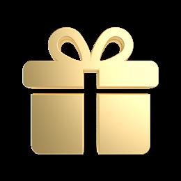 免抠矢量金色礼物盒图标