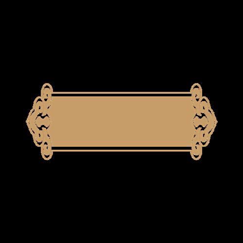 金色镂空标签框