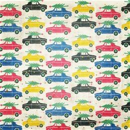 彩色手绘卡通汽车背景