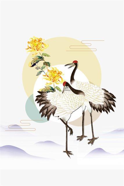 中国风仙鹤免抠图