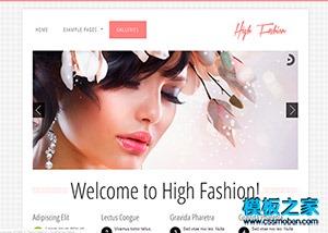 美容时尚响应式网站整站模板
