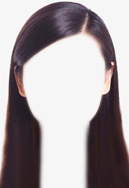 女生证件照长发发型免抠