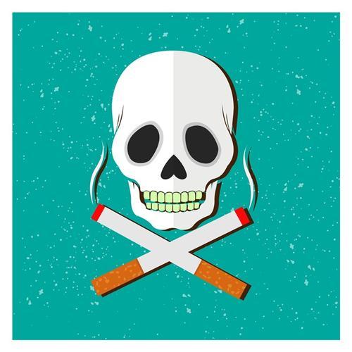吸烟有害健康创意图画