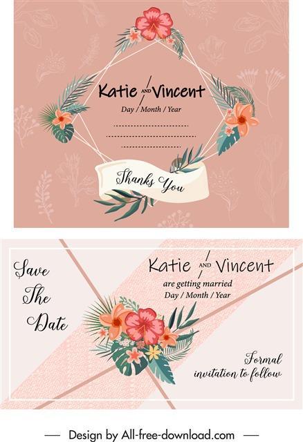 婚礼请柬VI模板