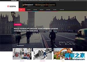 自媒体运动博客网站模板