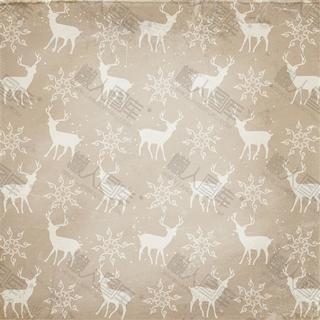 圣诞小鹿底纹背景