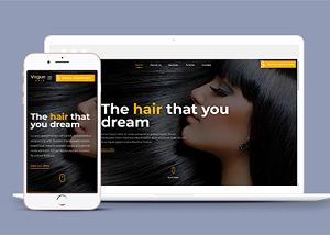 图文排版时尚美容美发网站模板