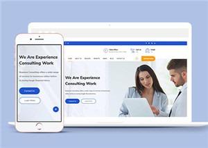 金融咨询服务企业网站模板