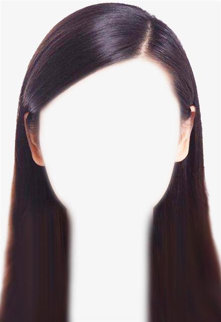 女生证件照长发ps发型模板
