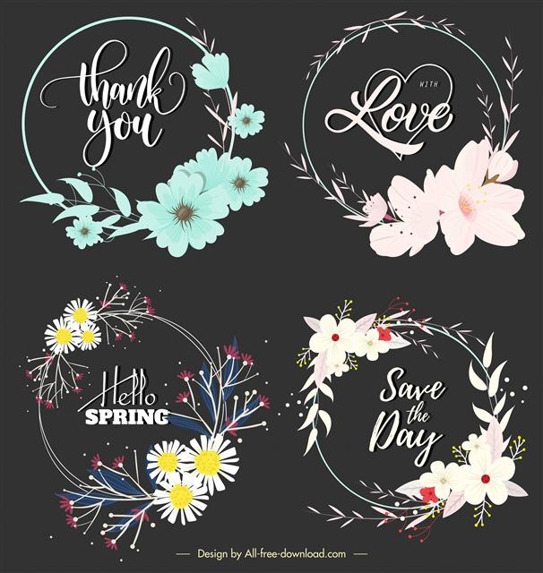 浪漫花卉装饰图案
