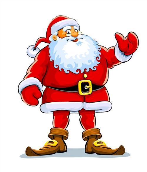 矢量手绘圣诞老人